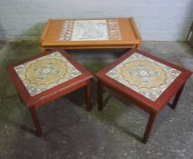 Map of Britain themed Coffee Table, 42cm high, 101cm wide, 60cm deep, With two Danish Retro Lamp