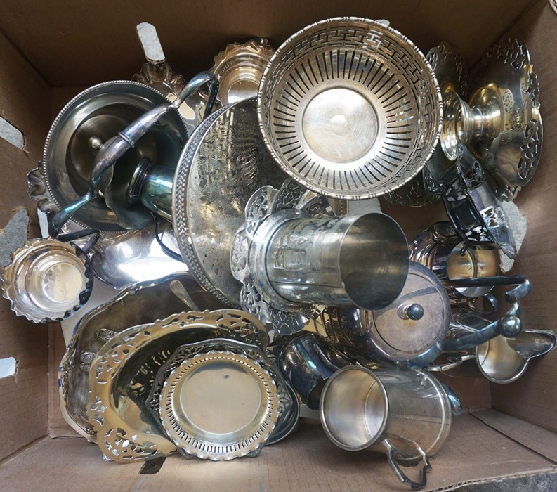 Box of Silver Plated Wares - Image 2 of 2