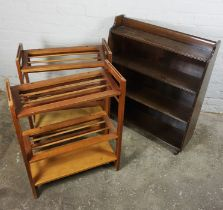 Two Shoe Racks, 77cm high, 60cm wide, 26cm deep, With an Open Bookcase, (3)