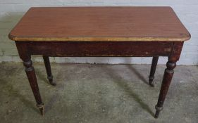 Victorian and Later Drop Leaf Tea Table, 76cm high, 107cm wide