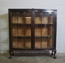 Vintage China / Display Cabinet, 133cm high, 119cm wide, 38cm deep