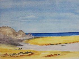 "Joyce Dalgety ""Loch Tulla, Bridge of Orchy"" ""Kiloran Bay, Isle of Colonsay"" Two Watercolours, 20cm x"
