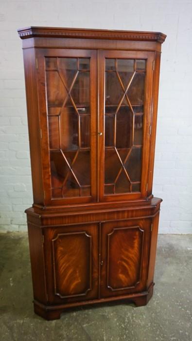 Reproduction Corner Cabinet, 182cm high, 92cm wide, 63cm deep