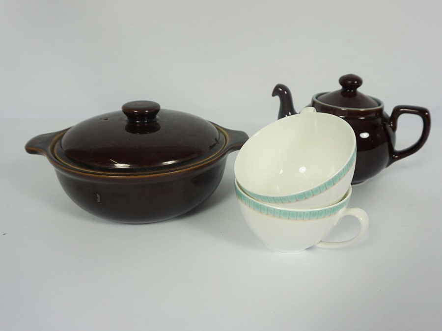 Box of Assorted Denby Dinner and Table Wares