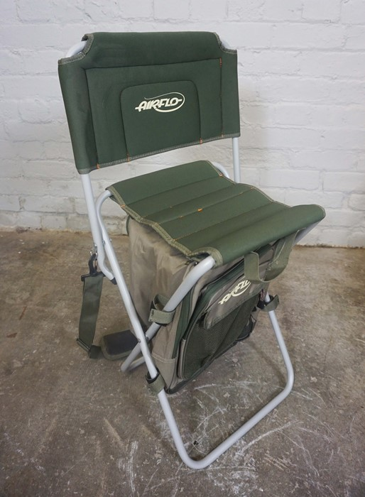 Three Folding Fishermans Chairs by Shakespeare and Airflo, Largest 81cm high, (3) - Image 2 of 5