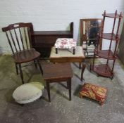 Mixed Lot of Occasional Furniture, (9)