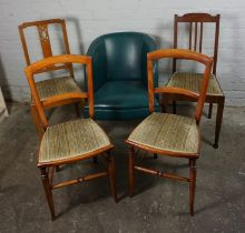 Five Assorted Chairs, To include a pair of Chairs, (5)