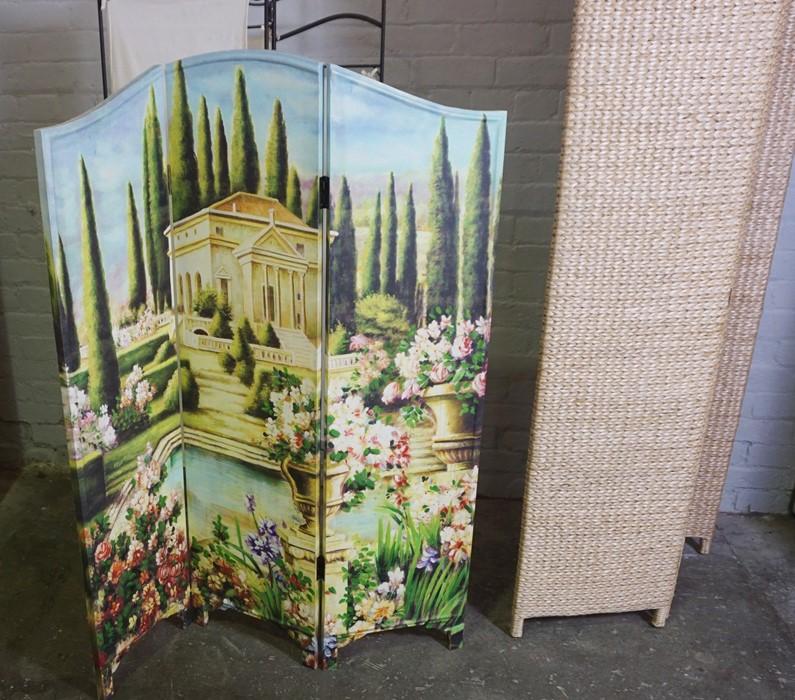 Three Folding Screens, Tallest 173cm high, 120cm wide, (3) - Image 2 of 2