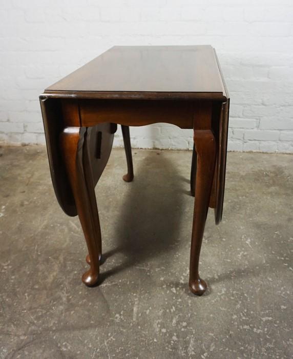 Mahogany Drop Leaf Pad Foot Table, 75cm high, 152cm long, 91cm wide - Image 6 of 6