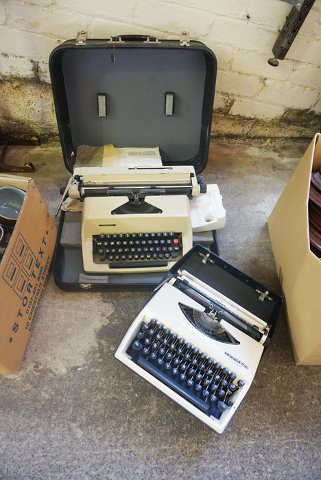 Adler Typewriter, With a Consul Typewriter, (2)Condition reportSold as seen, Not tested