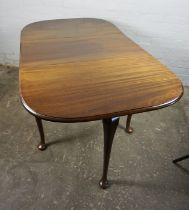 Mahogany Drop Leaf Pad Foot Table, 75cm high, 152cm long, 91cm wide