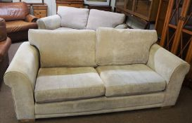 Pair of Modern Two Seater Sofas, 63m high, 194cm wide, 87cm deep, (2)