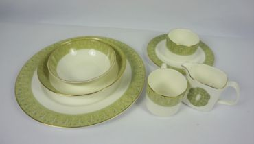 """Quantity of Royal Doulton """"Sonnet"""" Pattern Dinner and Coffee Wares, Approximately 50 pieces in"""