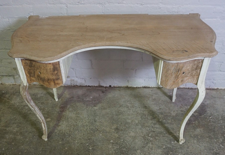 Antique French style Painted Dressing Table, 66cm high, 105cm wide, 52cm deepCondition - Image 2 of 3