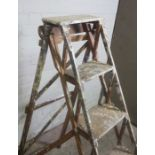 Set of Vintage Painters Ladders by Victory, 130cm high