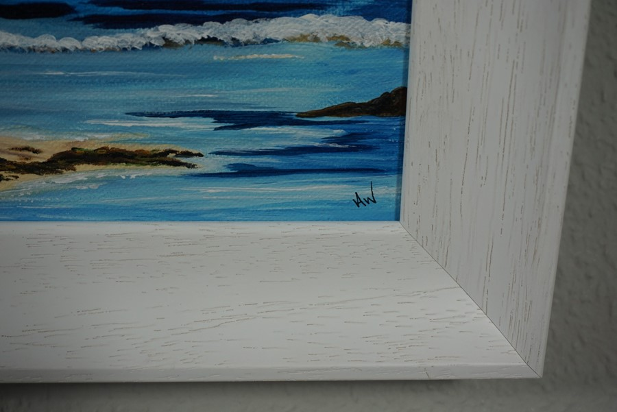 SOLD Anne White (Scottish, B.1960), Living on the Edge, St Abbs from Coldingham Bay, acrylic on - Image 5 of 10