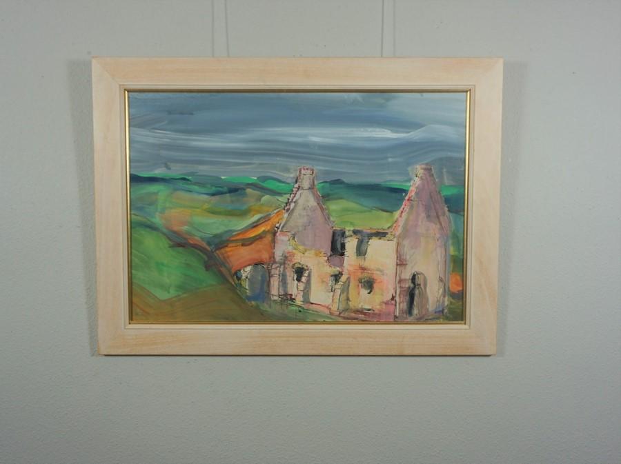 Lida Hatrick M.A.(Hons) M.Sc.(British, B.1948), Crichton Castle Chapel, acrylic on board, initials - Image 3 of 9