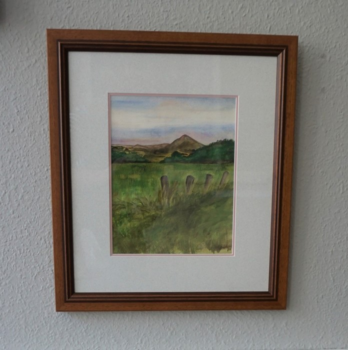 Anne White (Scottish, B.1960), Subtle Sunset, Ruber Law, watercolour on paper, framed 33cm x 40. - Image 3 of 5