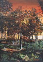 Neville Storer (British, B.1948),Summer's End, oil on canvas, signed to lower right, framed 63cm
