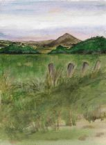 Anne White (Scottish, B.1960), Subtle Sunset, Ruber Law, watercolour on paper, framed 33cm x 40.