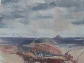 Lida Hatrick M.A.(Hons) M.Sc.(British, B.1948), East Lothian from the Gifford Rd (Bass Rock), oil