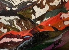 James Hinder (British, B.1946), Landmannalauger, acrylic on canvas, initialled and dated 2012