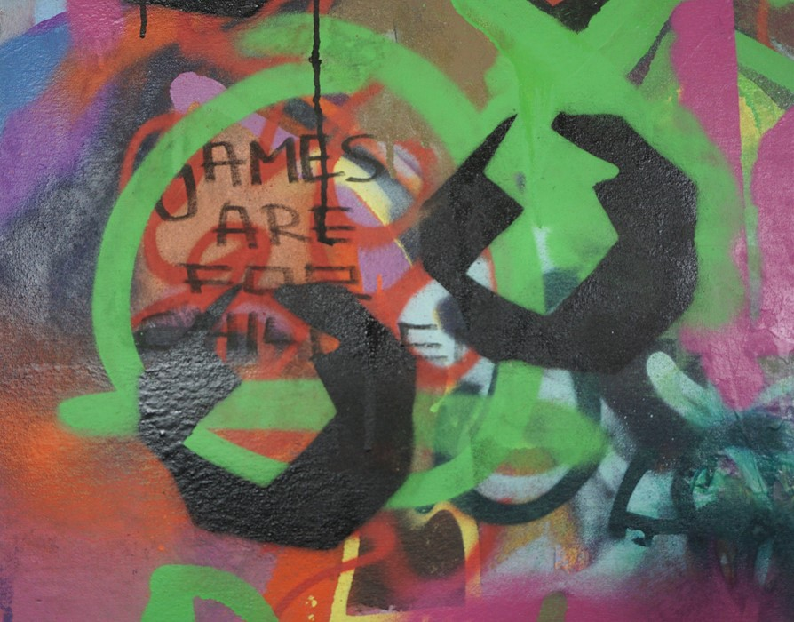 Robbie Mackintosh (Scottish, B.1980), The Games Men Play, spray paint on canvas, signed, titled - Image 5 of 19
