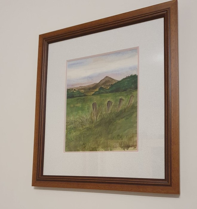 Anne White (Scottish, B.1960), Subtle Sunset, Ruber Law, watercolour on paper, framed 33cm x 40. - Image 2 of 5