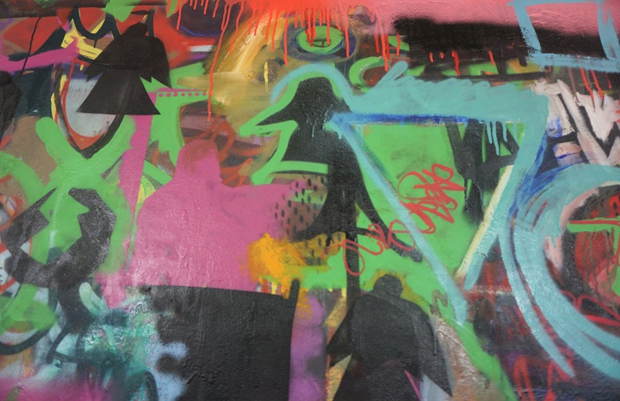 Robbie Mackintosh (Scottish, B.1980), The Games Men Play, spray paint on canvas, signed, titled - Image 17 of 19