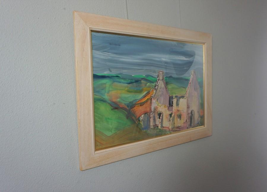 Lida Hatrick M.A.(Hons) M.Sc.(British, B.1948), Crichton Castle Chapel, acrylic on board, initials - Image 5 of 9