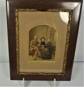 """""""Family Portrait"""" Lithograph (circa late 19th / early 20th century) 19.5cm x 14cm"""