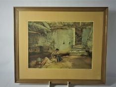 """After Sir William Russell Flint """"Retreat from the Sun"""" Signed Limited Edition Print, Signed in"""