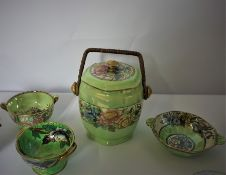 Mixed Lot of Pottery and Ceramics (circa 19th century and later) To include a Prattware Jar with