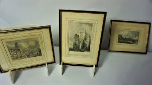"""Five Assorted Prints, To include """"Melrose"""" and """"Kelso"""" Abbey, (5)"""