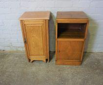 Oak Bedside Locker, 71cm high, 37cm wide, 35cm deep, With a Walnut Bedside Cabinet (2)