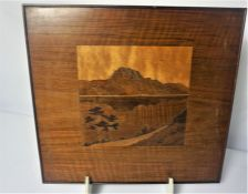 Two Spindler type Marquetry Pictures, 20cm x 20cm (2)