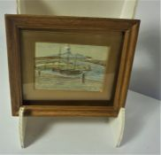 Two British School Watercolours, One signed indistinctly, 8cm x 12cm, 13cm x 17cm (2)