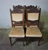 Set of Four Oak Dining Chairs, 106cm high (4)