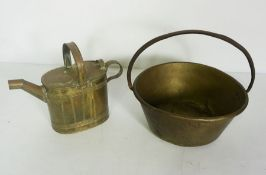 Victorian Brass Bucket and Watering Can