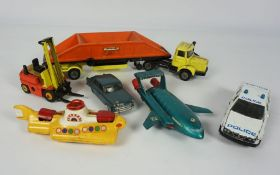 Collection of Dinky, Corgi and Matchbox Model Vehicles, To include The Beatles Yellow Submarine,