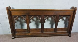 Gothic Style Victorian Church Pew, Made from Cedar. A rare and expertly crafted Church Pew in a