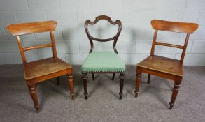 Pair of Victorian Chairs,75cm high,With a Victorian Mahogany Chair (3)