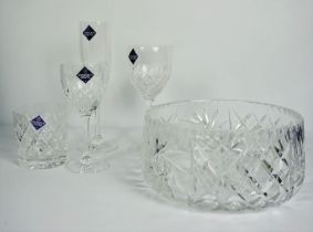 Collection of Boxed Edinburgh Crystal, Comprising of a Set of Six Champagne Flutes, Set of Six