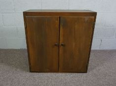 Collection of Cupboards and a Side Table, Oak Stained Beach Cupboard with two opening doors (77cm