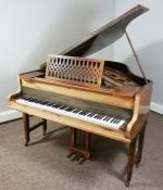 Walnut Cased Baby Grand Piano,By John Broadwood & Sons,Approximately 156cm long