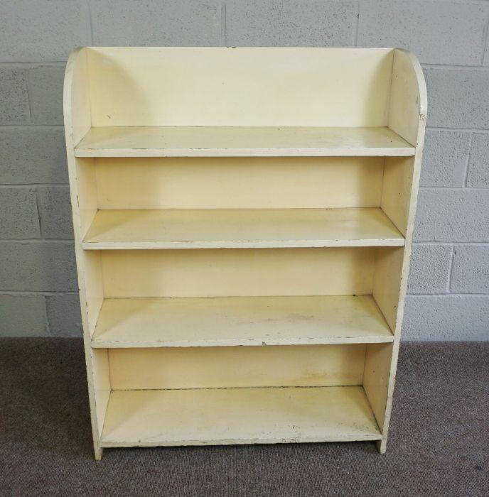 Painted Bookcase, 123cm high, 92cm wide, 31cm deep