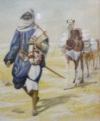 2 Framed Pictures, A Musician and Arabian with camel