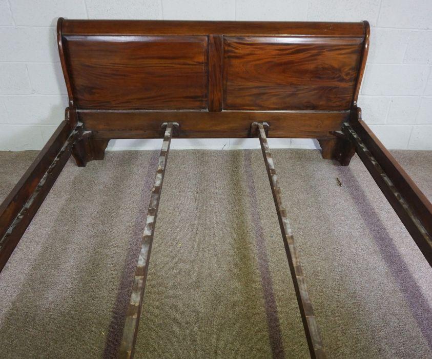 Hardwood King Size Bed,Having side rails and slats,Larger bed end 90cm high, 191cm wide - Image 2 of 6