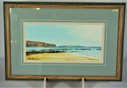 """Martin W. M. Prentice, Born 1943, """"Dingieshowe & Copinsay Orkney"""" Watercolour"""