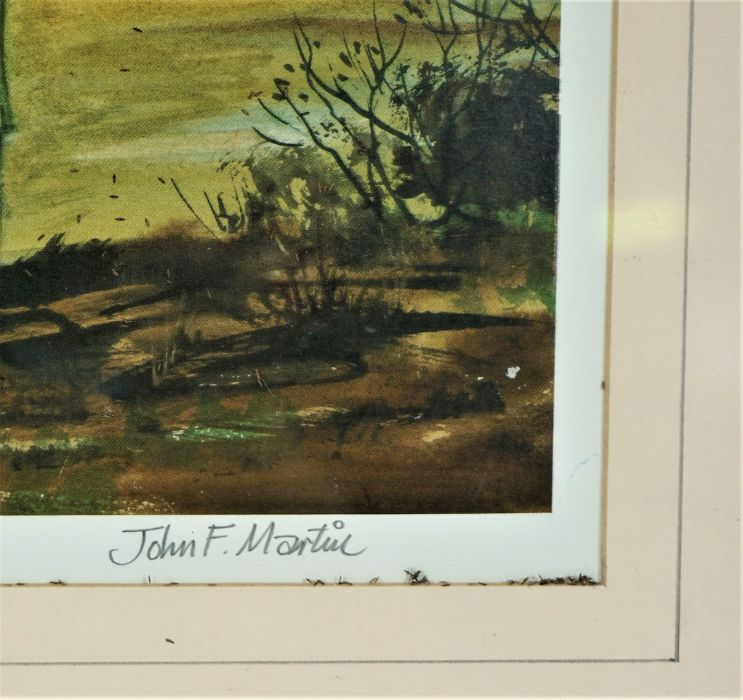 """James F Martin, """"The Border Shepherd"""" Signed Print, Signed in pencil, 27.5cm x 39cm, With a John - Image 3 of 7"""